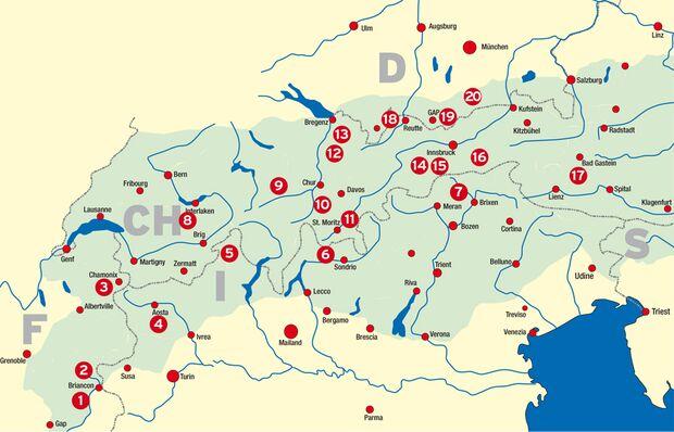 KL Alpenkarte Eisklettern