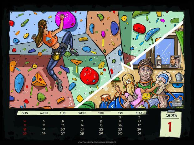 KL-Kletter-Comic-Kalender-2015-Climbers-Fingers-Januar (jpg)