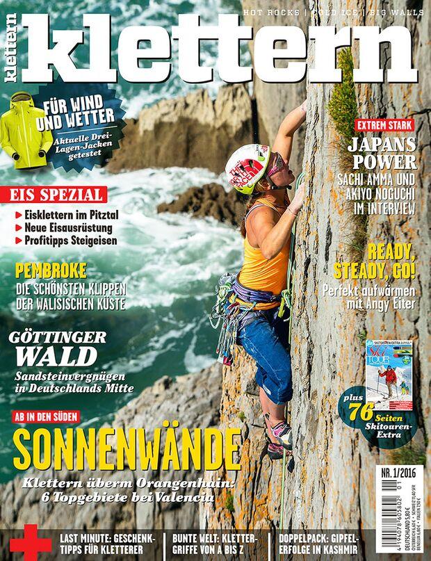 KL klettern magazin 01 - 2016 titel cover mit 68