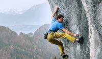 Roland Hemetzberger klettert in Achleiten